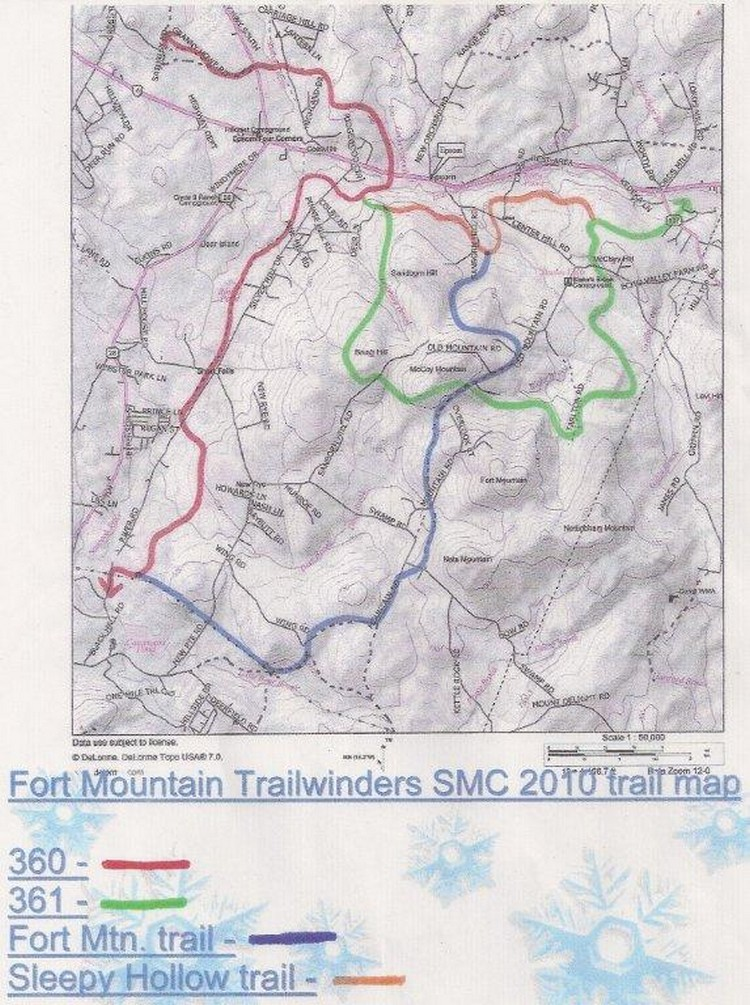 Fort Mountain Trail Winders on